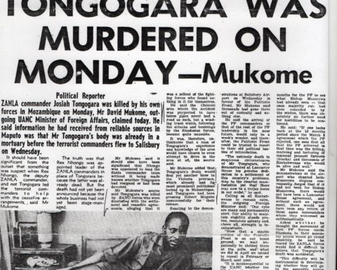 Tongogara Was Murdered On Monday Headline