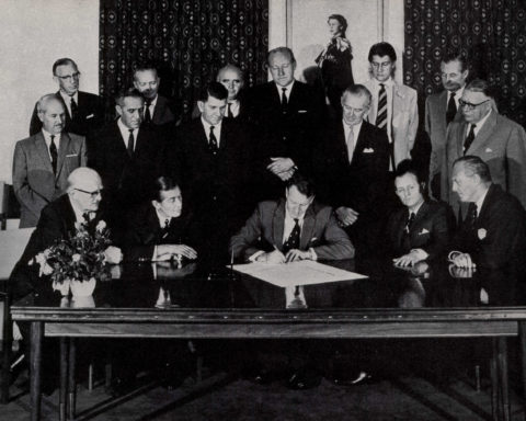 Signing The Unilateral Declaration Of Independence (ca. 1965)